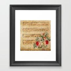Vintage Music #1 Framed Art Print