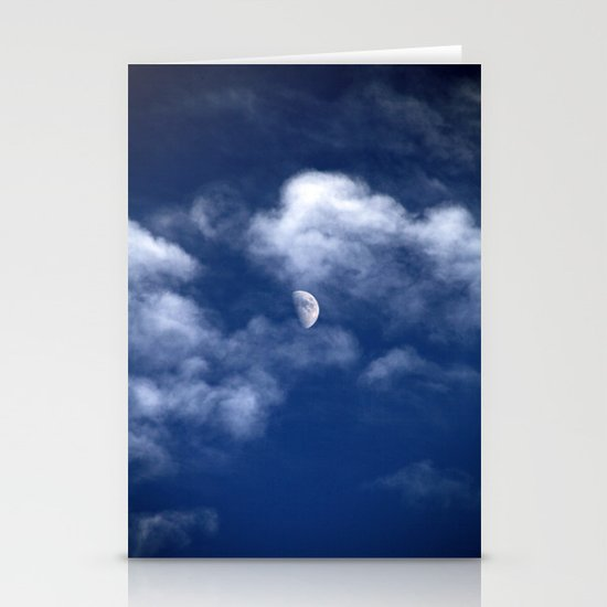 Waxing Gibbous Stationery Card