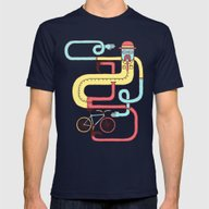 Go Riding Mens Fitted Tee Navy SMALL