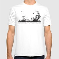 Secret Garden Black And … Mens Fitted Tee White SMALL