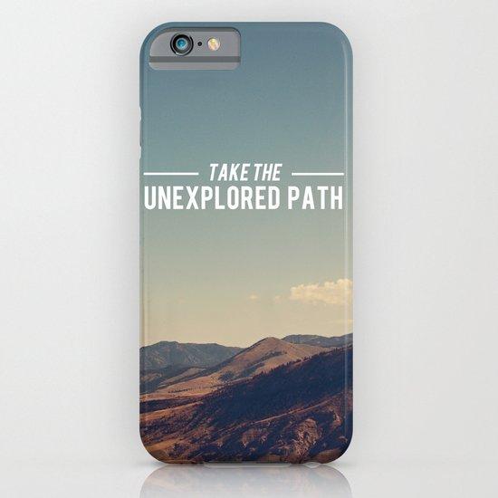 Take The Unexplored Path iPhone & iPod Case
