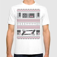Old School Sweater Mens Fitted Tee White SMALL
