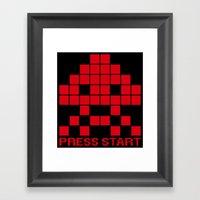 Space Invader Framed Art Print