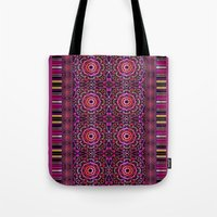 Pink Denim Mandalas Tote Bag