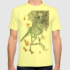 Velociraptorlady   Mens Fitted Tee Lemon SMALL