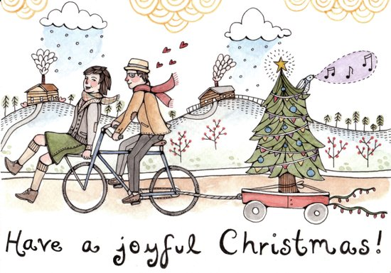 Joyful Christmas Canvas Print