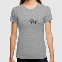 Black Widow Scribble Womens Fitted Tee Athletic Grey SMALL