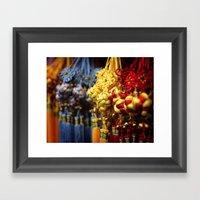 Asian Tassles Framed Art Print