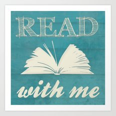 Read With Me Art Print