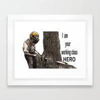 Working class Hero 2 Framed Art Print