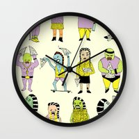 KIDS AND PIZZA Wall Clock