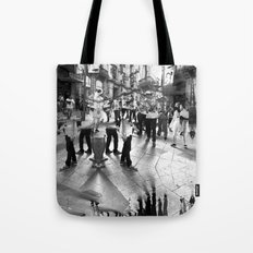Summer space, smelting selves, simmer shimmers. 18, grayscale version Tote Bag