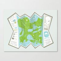 Totally Inaccurate Map O… Canvas Print