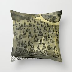 River Runnin Throw Pillow