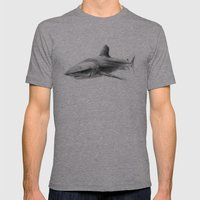 Shark I Mens Fitted Tee Athletic Grey SMALL