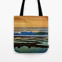 Indonesian Wave And Volc… Tote Bag