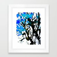 Blue ash Framed Art Print