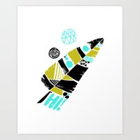 Feather Greeting Art Print