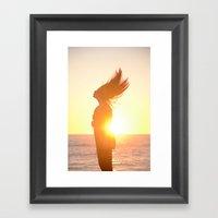 Subdued Sunlight. Framed Art Print