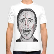 American Psycho SMALL White Mens Fitted Tee