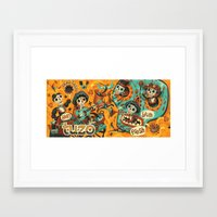 Day of the Dead - Mariachi Framed Art Print