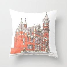 NYC Jefferson Market Library Throw Pillow