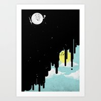 GoodBye! Sun. Art Print