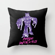 Made Of Wolves Throw Pillow