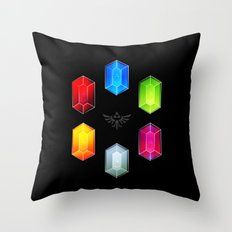 Zelda Just Want Them Rupees Throw Pillow