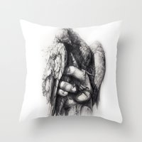 Hand Of Freedom Throw Pillow