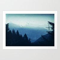 Blue Valmalenco - Alps at sunrise Art Print