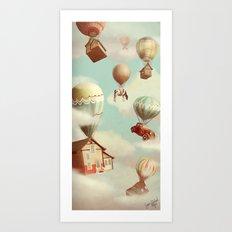 Moving ut Art Print