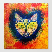 Canvas Print featuring MEOW by One Pepinillo