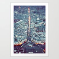 Paris, City Of Lights. Art Print