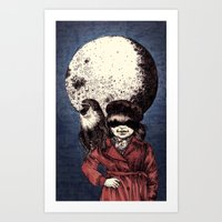 Posing On The Moon Art Print