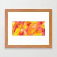 spring swirl Framed Art Print