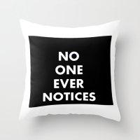 no one Throw Pillow