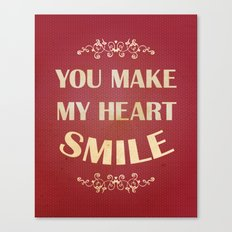 You make my heart smile Canvas Print