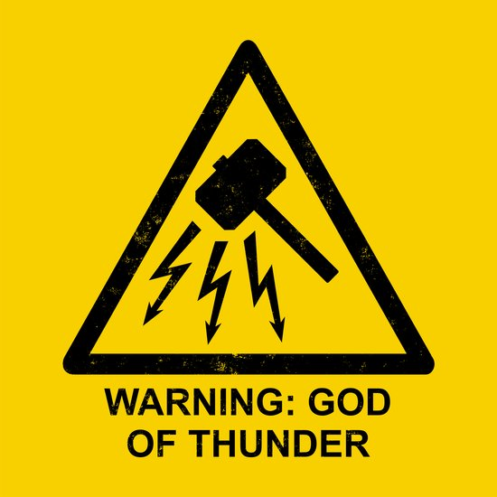 Warning: God of Thunder Art Print