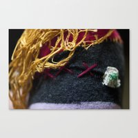 bret michaels.  if he were a pirate.  and a sperm.  and made out of an old sock Canvas Print