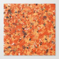 Chameleonic Panelscape  - Colours from Alice Rebecca Canvas Print