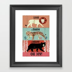 Lions And Tigers And Bea… Framed Art Print