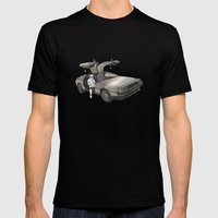 Stormtrooper In A DeLore… Mens Fitted Tee Black SMALL