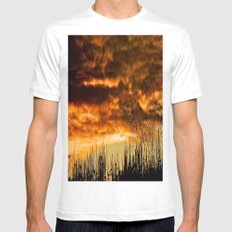 When Storm & Sunset Meet SMALL White Mens Fitted Tee