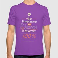 Morbid Reality #01 Mens Fitted Tee Ultraviolet SMALL
