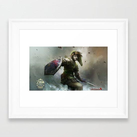 legend of zelda 25th anniversary  Framed Art Print