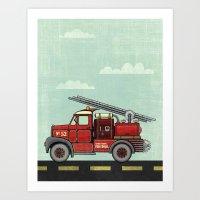 Atomic County Fire Depar… Art Print