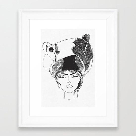 PolarGirl Framed Art Print