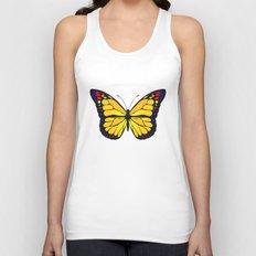 Yellow butterfly Unisex Tank Top