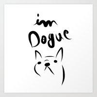 dogue french bulldog Art Print